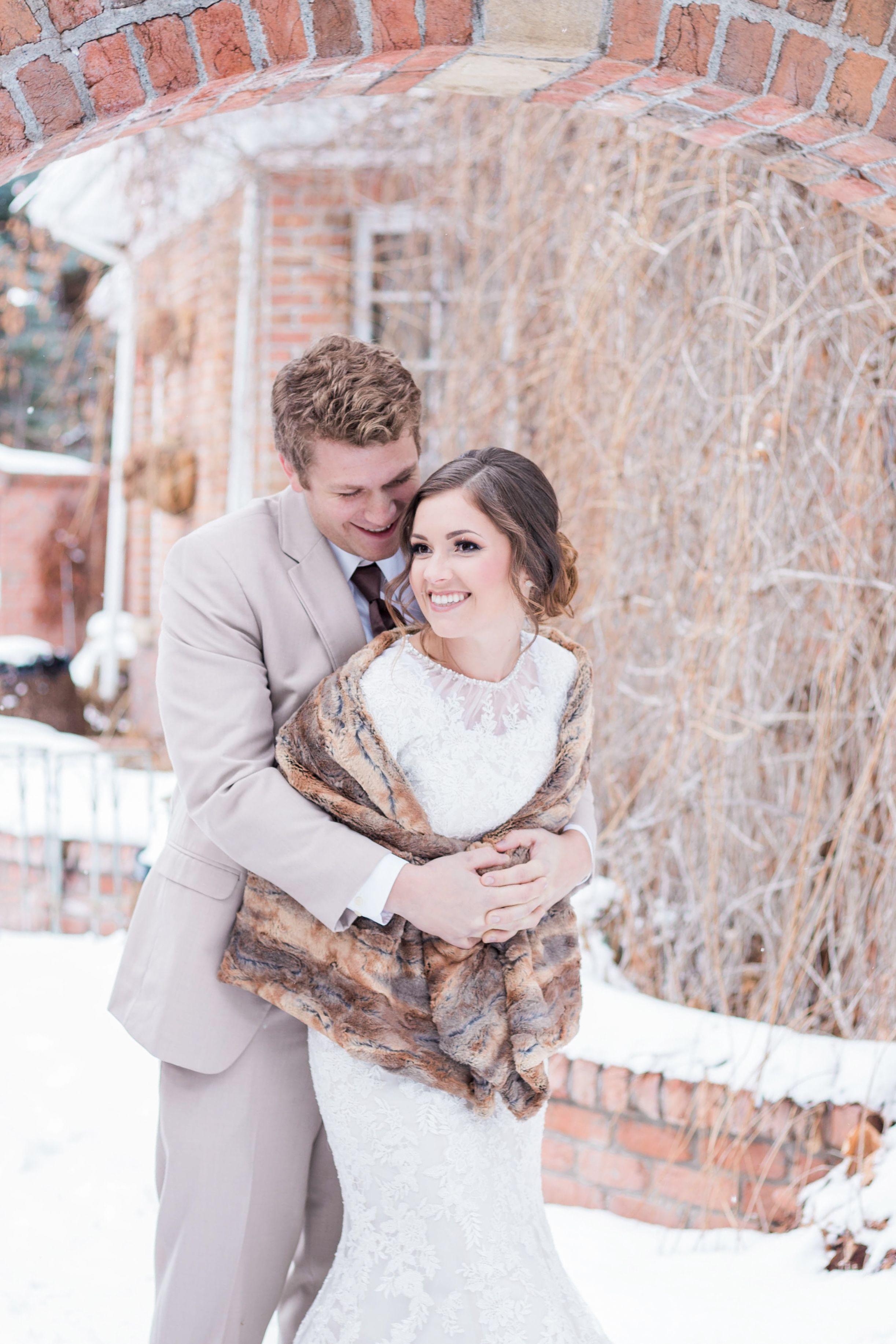 405fab10a46 Winter Wedding Wonderland - Pittsburgh Wedding - Blue Winter Wedding - Fur  Wrap wedding dress
