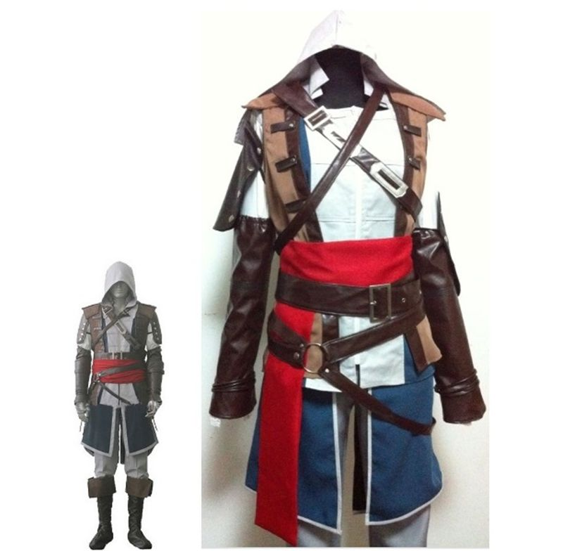 Boys Child Edward Kenway Cosplay Costume Kids Assassins Creed Iv4