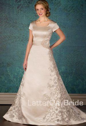 Modest Wedding Dress, Claretta | LatterDayBride & Prom. Modest ...