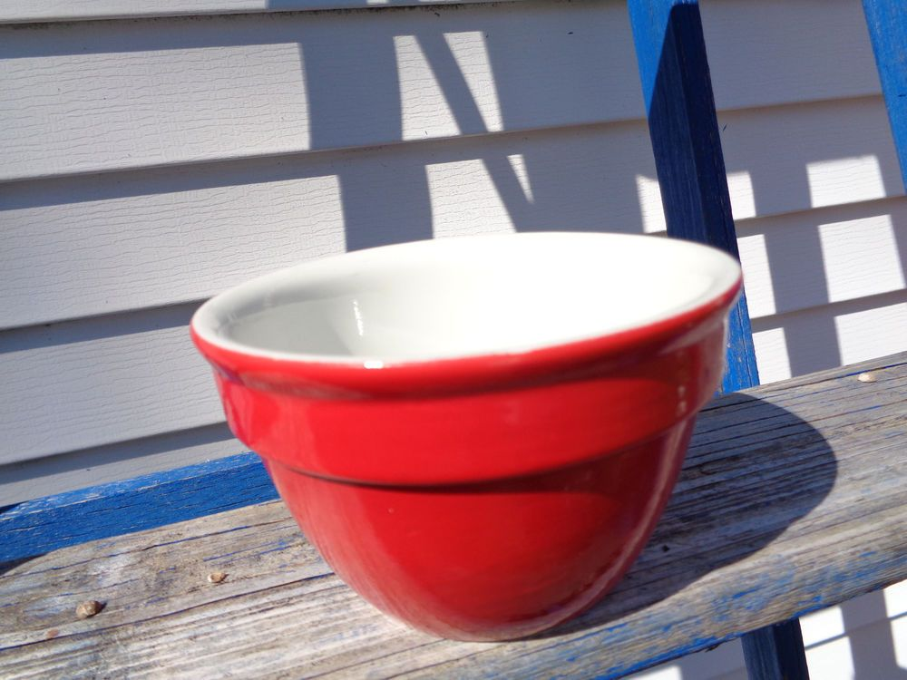 1930s Vintage Restaurant Hall China Chinese Red Small Mixing Bowl #Hall