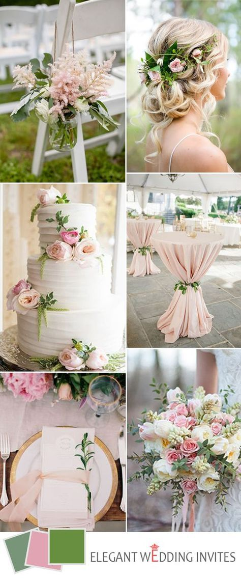 Top 5 greenery wedding color combos for 2017 spring trends ...