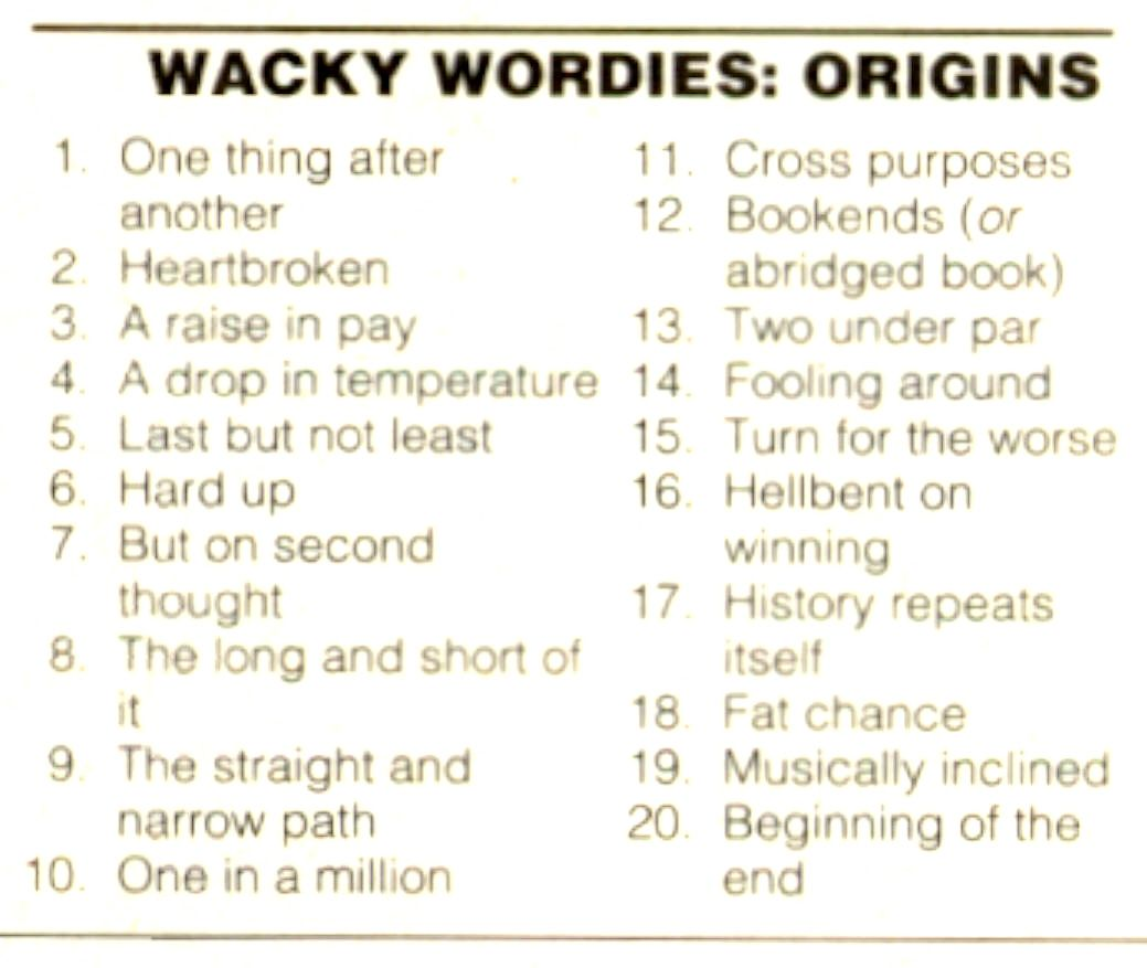 Workbooks wacky wordies worksheets : Wackie Wordies #67 | bio | Pinterest