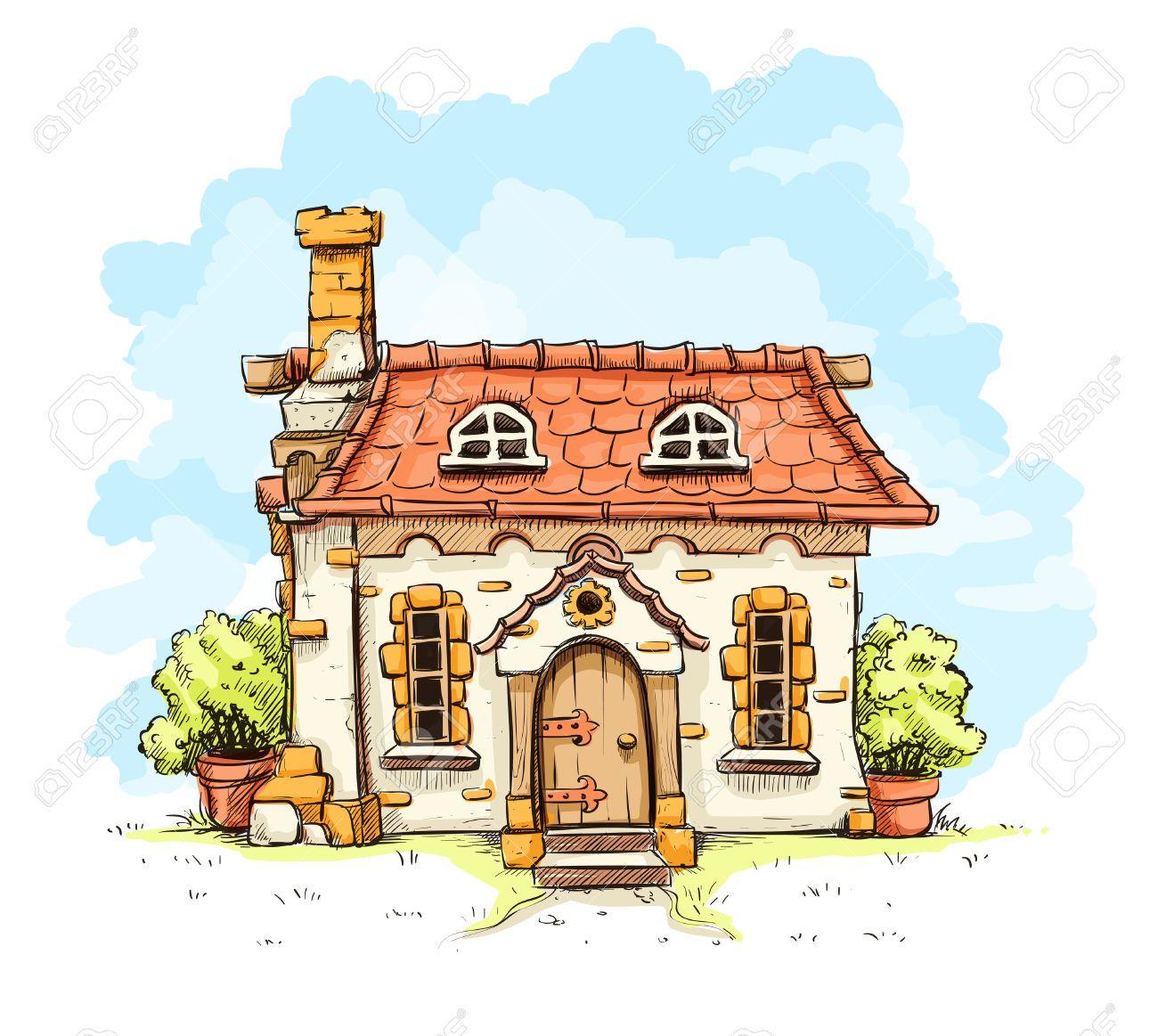 Image result for fairytale village house set design for Piani di casa cottage storybook
