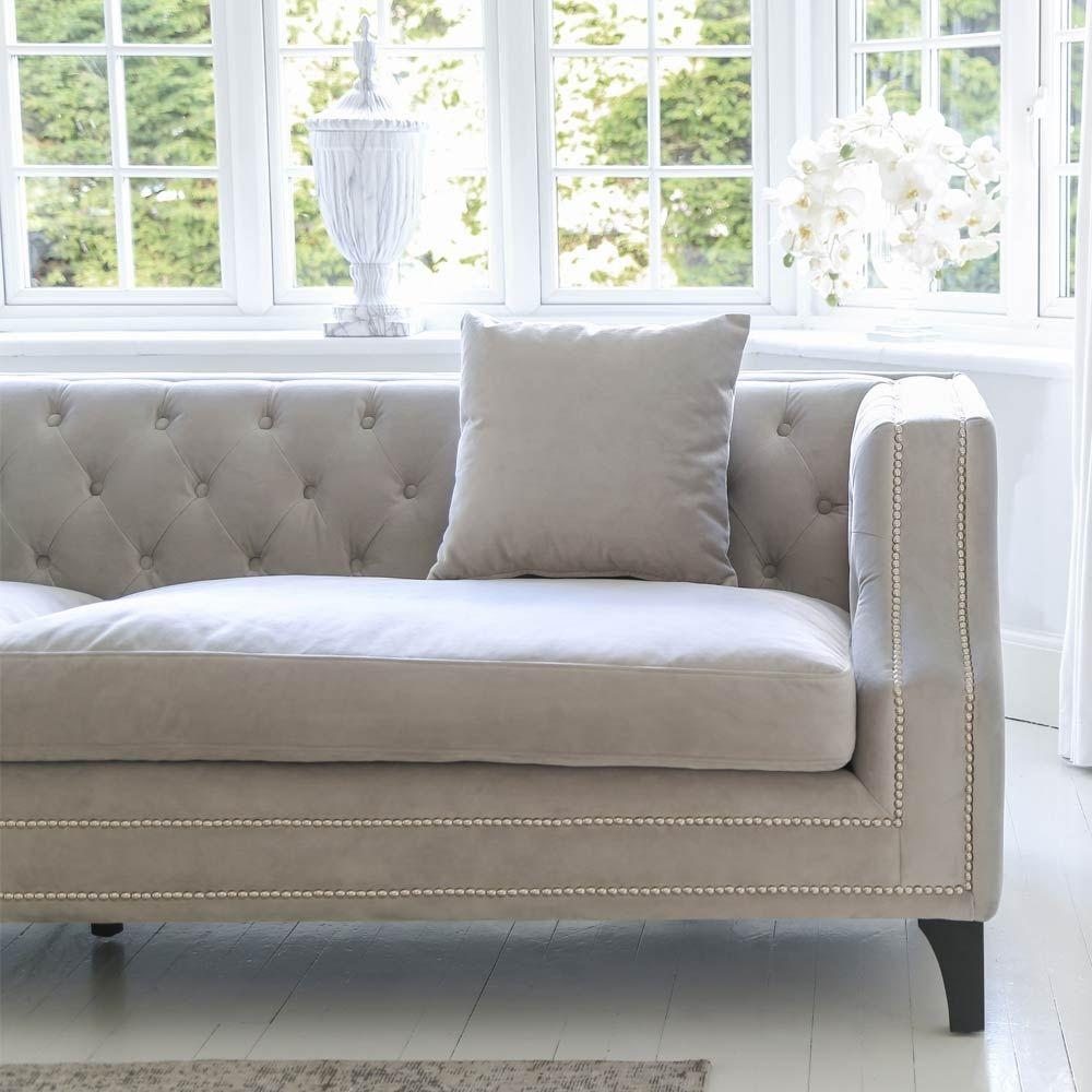 Lady Grey Velvet Sofa Luxury Seating Contemporary Sofa In 2020 Luxury Sofa Grey Velvet Sofa Contemporary Sofa