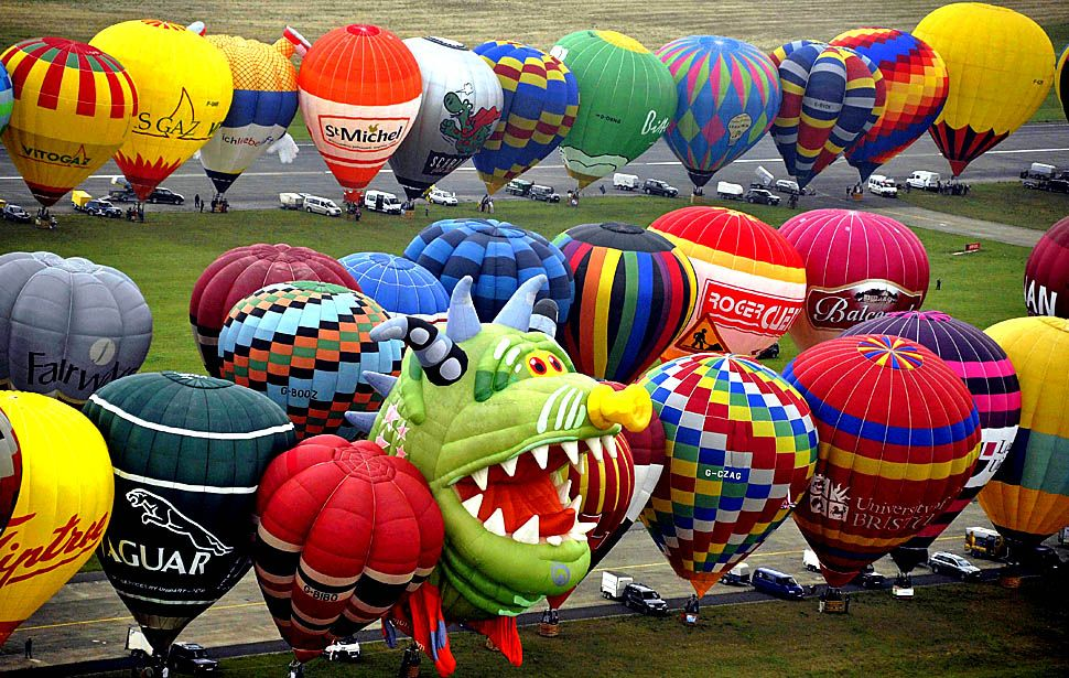 Special Festival Around the world. Hot air balloon