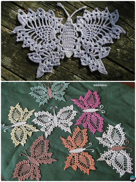 Delicate Lace Crochet Butterfly Free Pattern | Crochet toys and fun ...