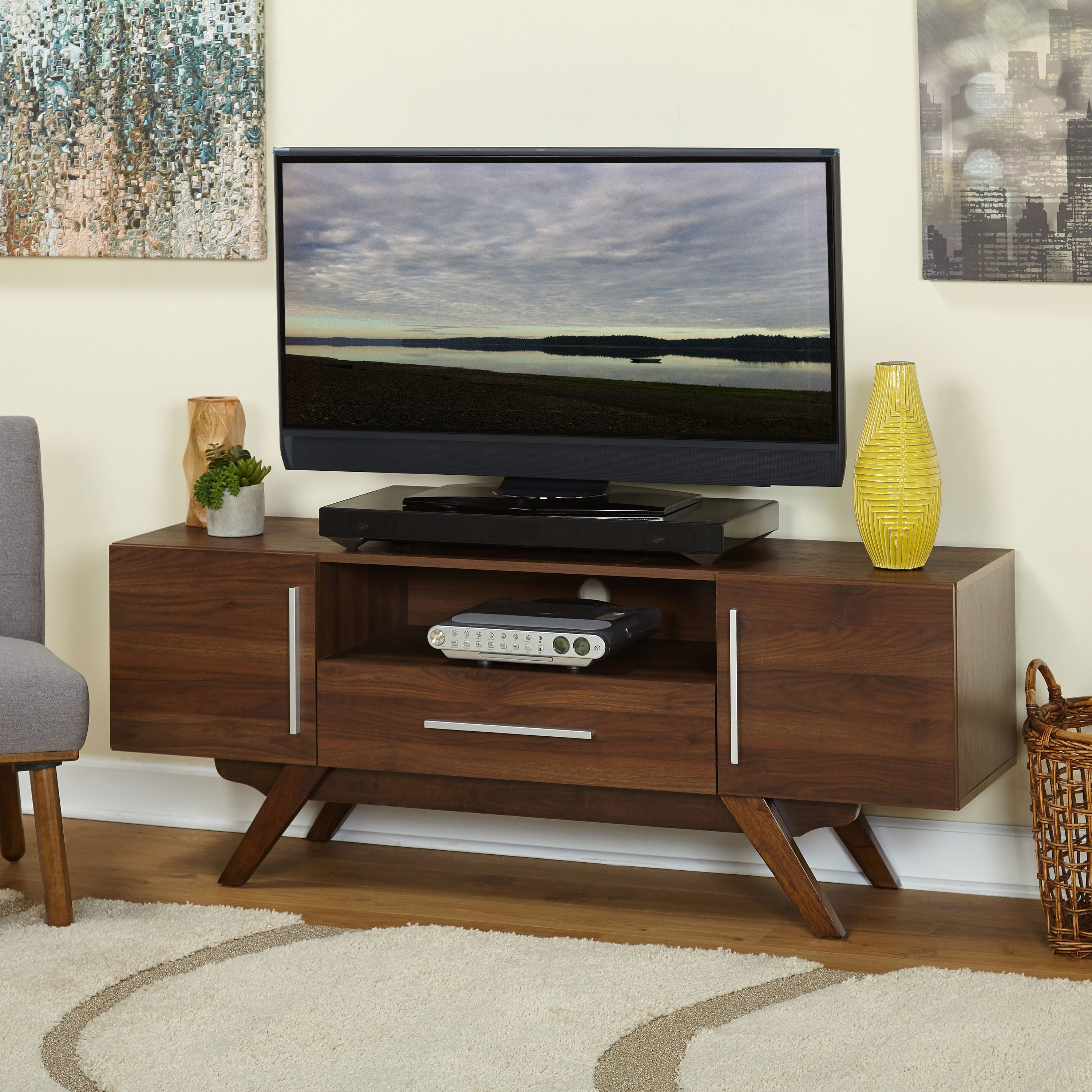 Carson Carrington Arendal Mid Century Tv Stand  Free Shipping Today