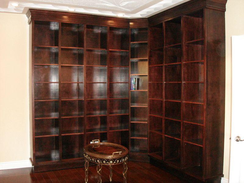 Custom Corner Bookshelf Wall Unit Moda Kitchens