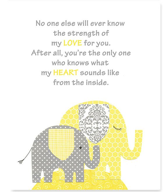No one else will ever know gender neutral nursery art print no one else will ever know gender neutral nursery art print yellow elephant decor negle Choice Image