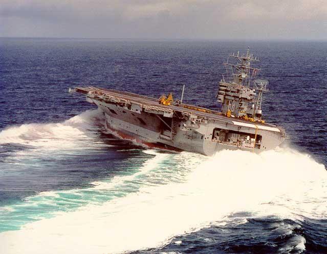 Aerial View Of U S Navy Strike Force Aircraft Carriers Patroling Pacific Ocean