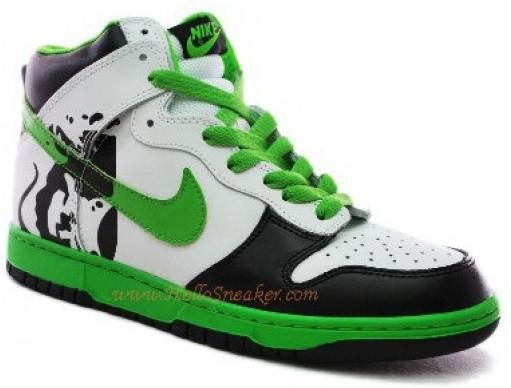 Nike Black White Green Dunk Retailers Custom Brass Monki