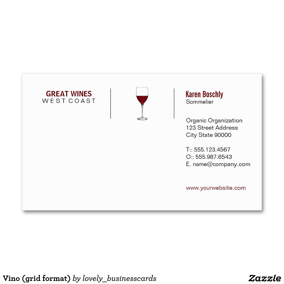 Vino grid format business card business cards business and vino grid format business card business cards business and support small business colourmoves