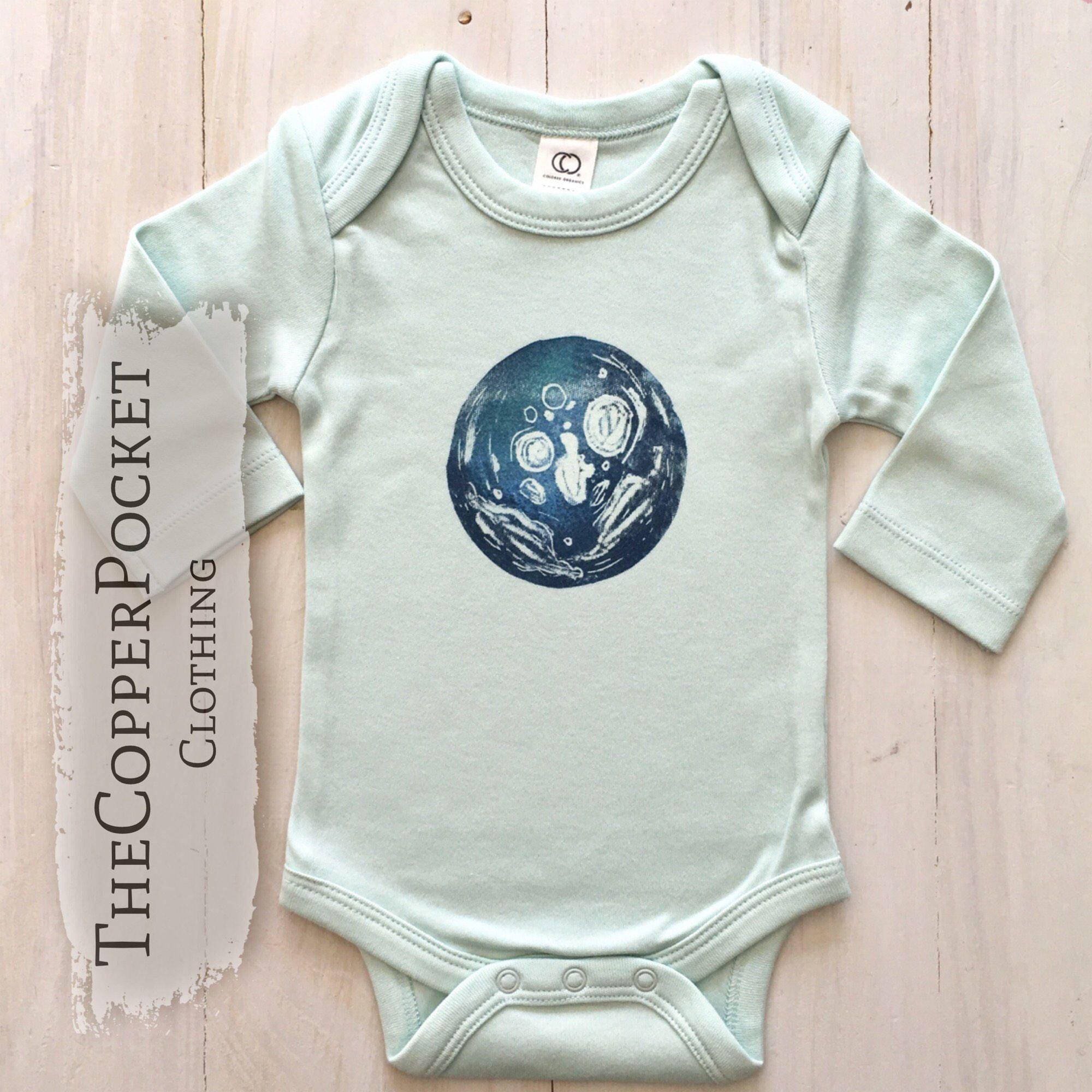 Lunar moon baby onesie organic baby clothing newborn baby clothes