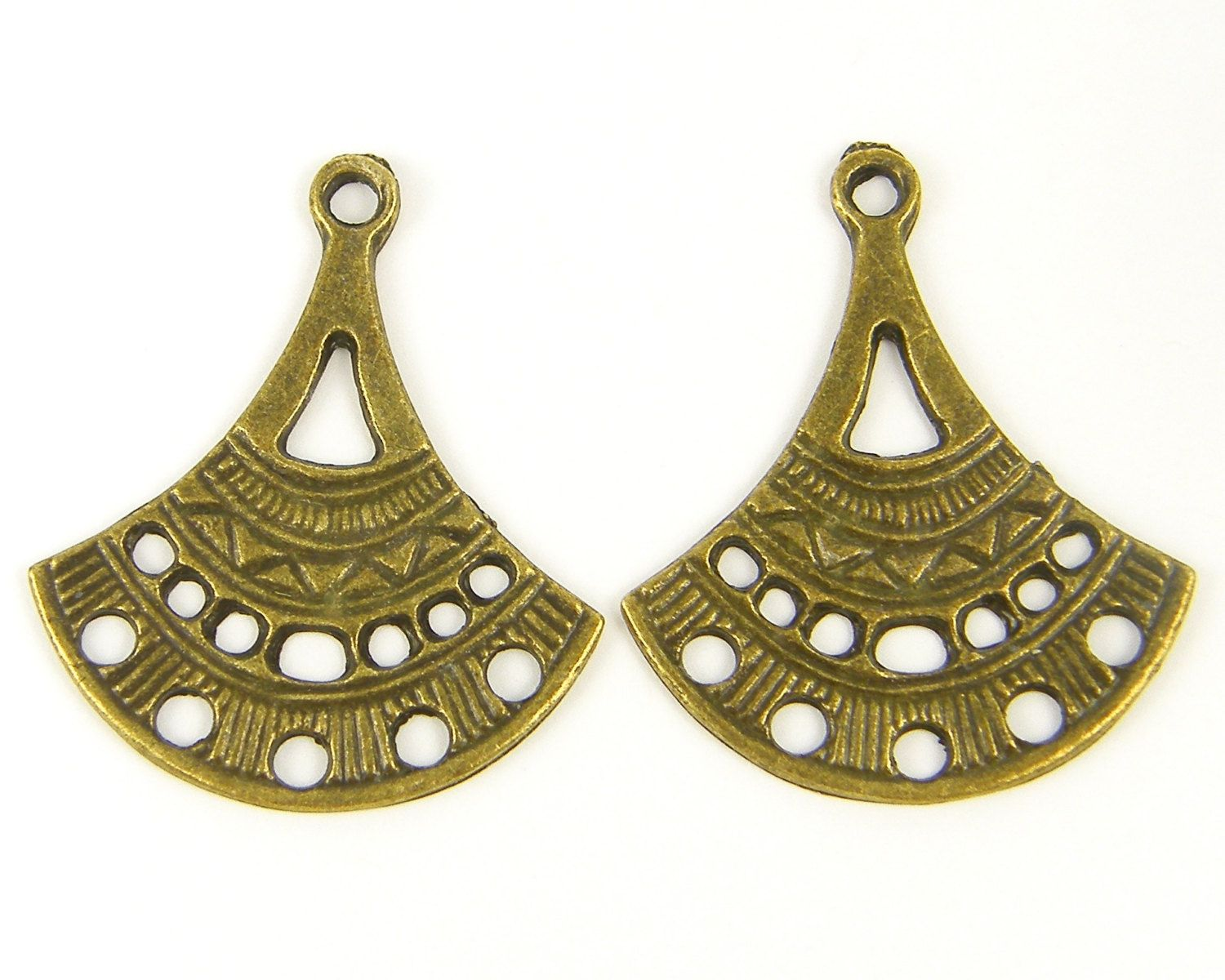 Antique brass tribal chandelier earring findings earring connectors antique brass tribal chandelier earring findings earring connectors jewelrydiy diyjewelry etsy arubaitofo Image collections