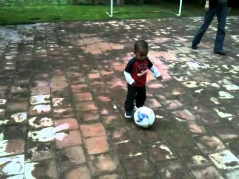 18 month old soccer star   An 18 month old shows off his ball handling skills. Go Levi! Go!