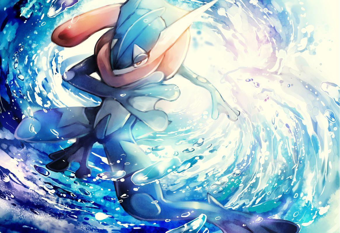 Greninja 1632224 Zerochan Anime Pokemon Pokemon Species