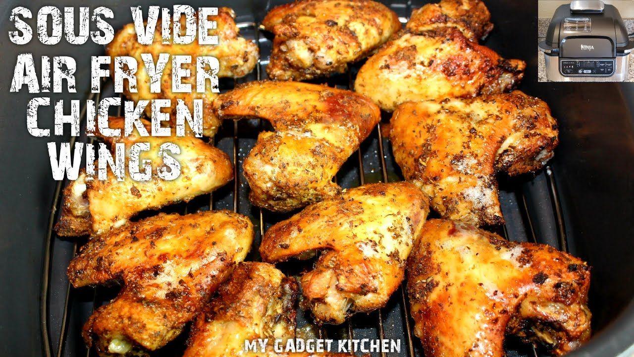 EASY Crispy Air Fryer Chicken Wings SOUS VIDE NINJA