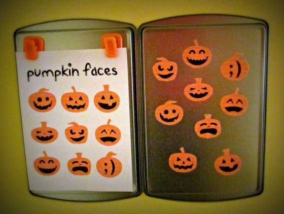 Magnetic Pumpkin Matching Game | Halloween party kids ...