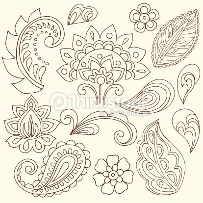 paisely tattoo pattern | Vector Art : Henna Doodle Paisley Design ...