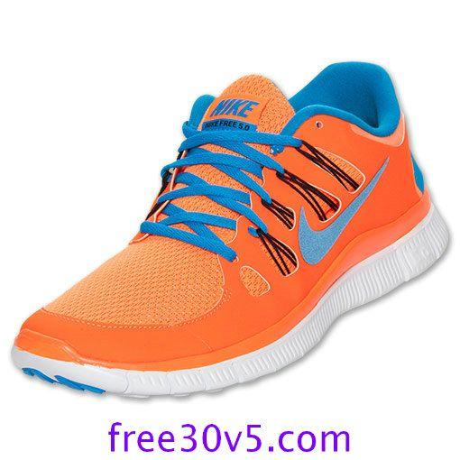 nike free run orange blue