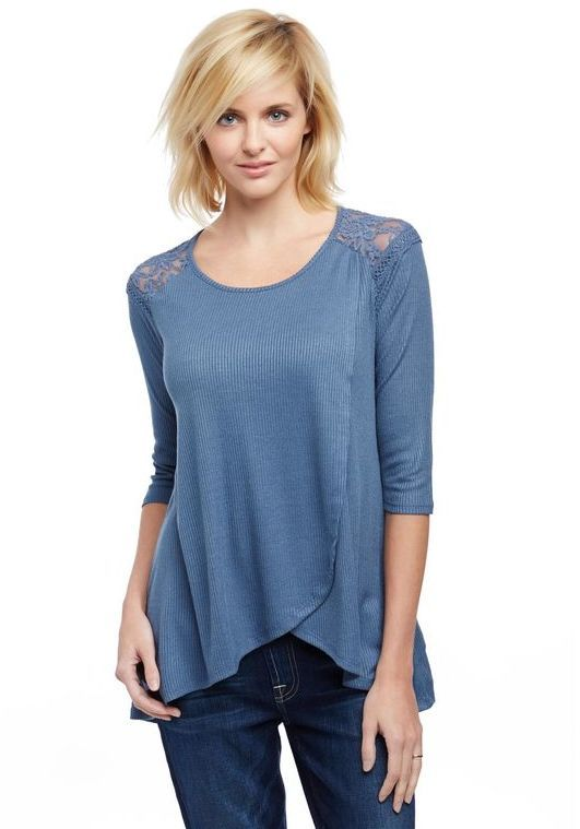 ed18e6d62dffc Jessica Simpson Pull Over Wrap Nursing Top | Products | Nursing tops ...