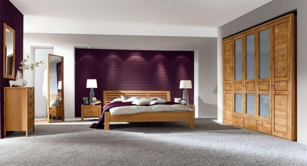 VOLO Komplettschlafzimmer mit VOLO Standspiegel 60x180 cm Erle - schlafzimmer günstig online