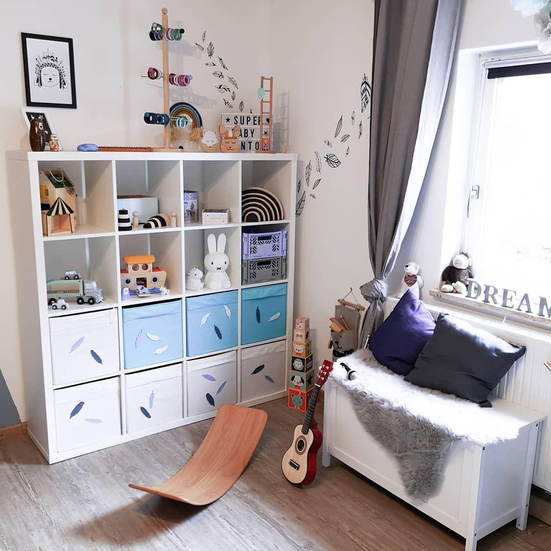 Kinderzimmer mit Ikea Kallax Regalen  Kinder zimmer