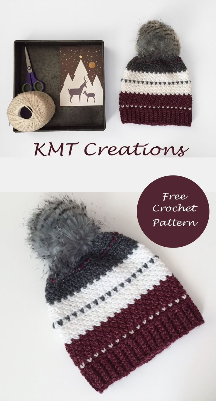 Christmas Hat | Crochet | Pinterest | Croché, Ganchillo y Ganchillo ...