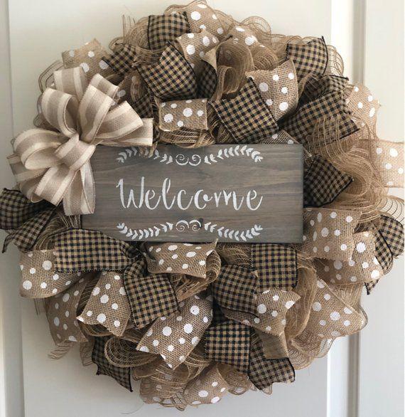 Photo of Welcome wreath farmhouse rustic