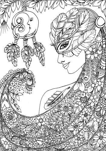 Belles and Blossoms :: coloring book | dibujos para colorear ...