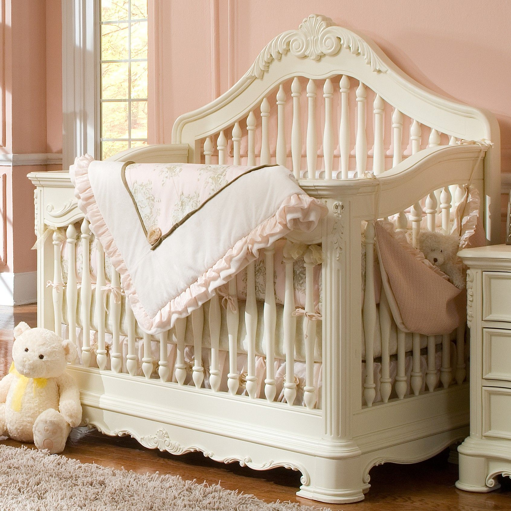20 Beatifull Decor Ideas For Your Baby S Room: Creations Venezia Collection Convertible Crib In Vanilla