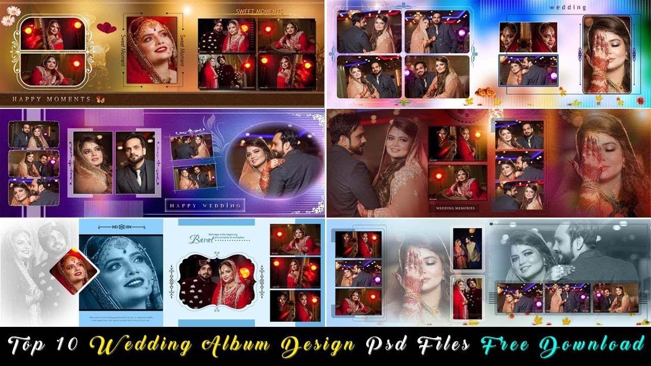 Top 10 Wedding Album Design Psd Files Free Download Studiopk Wedding Album Design Album Design Wedding Album