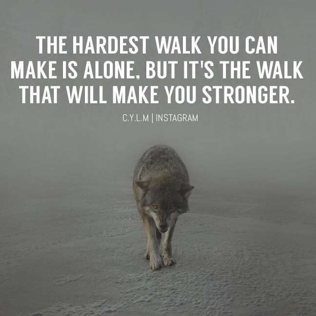 Quotes Being Alone But Strong Appreciation Quotes