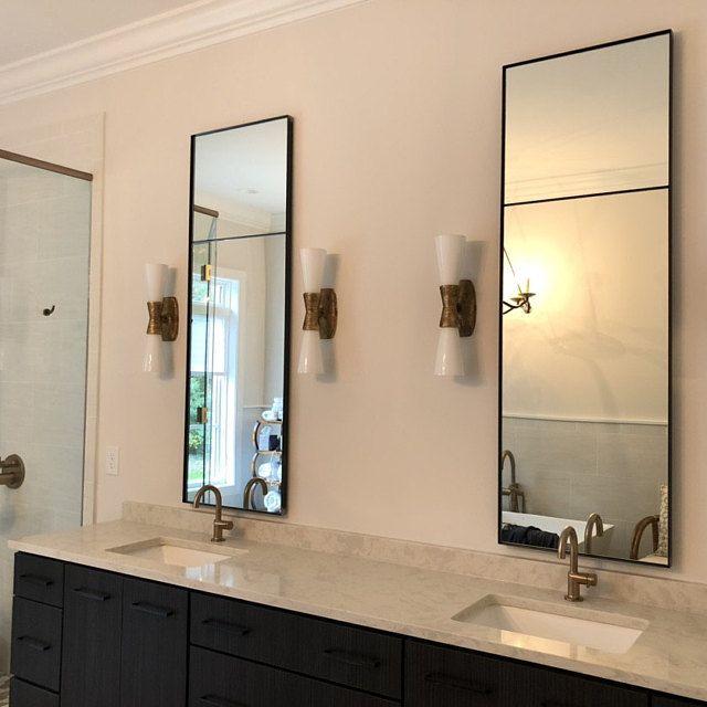 Wall Mirror Bathroom Vanity, Black Bathroom Mirrors