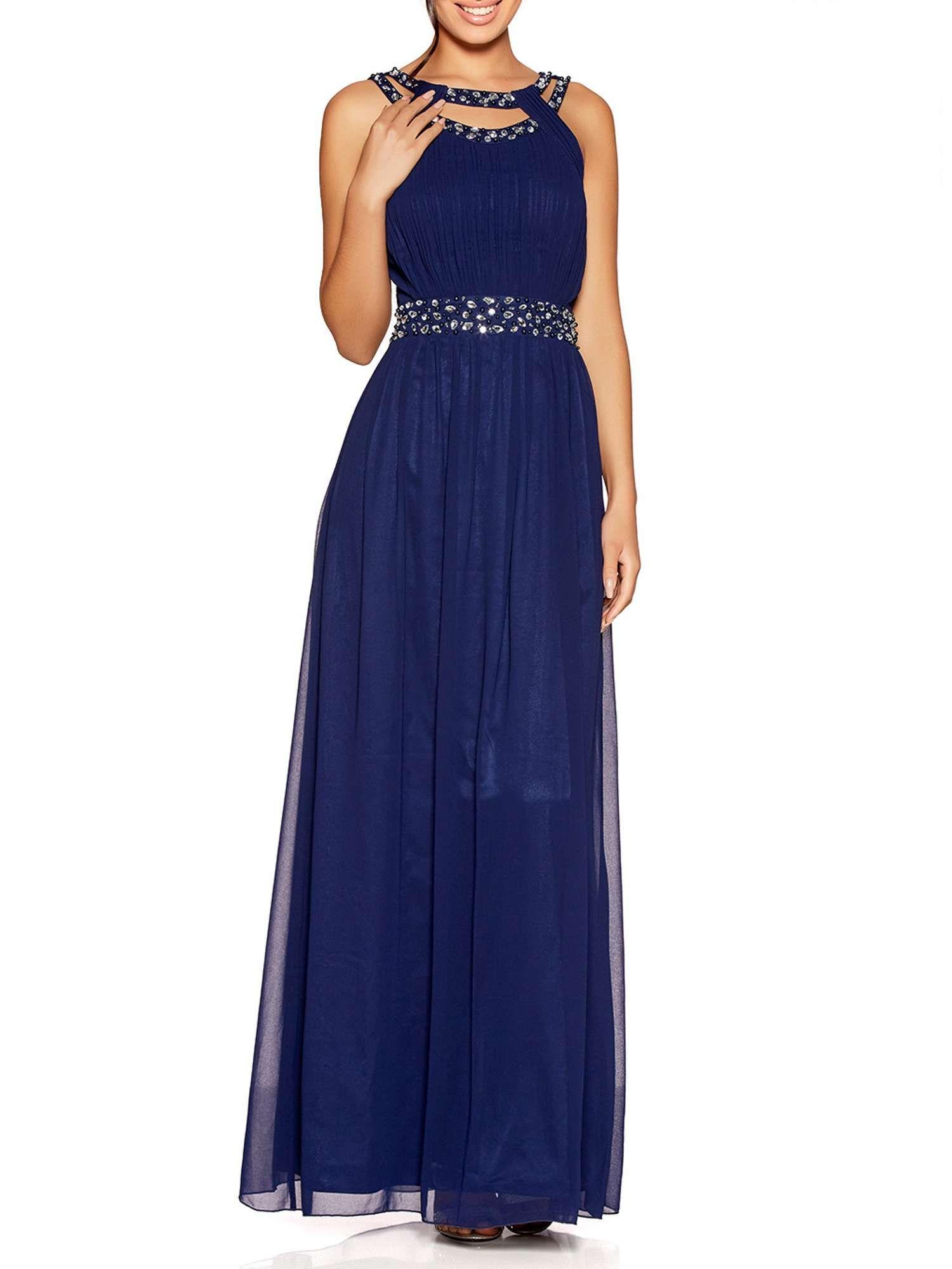 Quiz chiffon embellished maxi dress maxi dresses dress online and