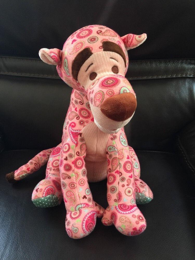 "Disneyland Tigger Pink Paisley 12"" Plush Tiger Toy Hidden Mickey Disney Parks  #Disney"