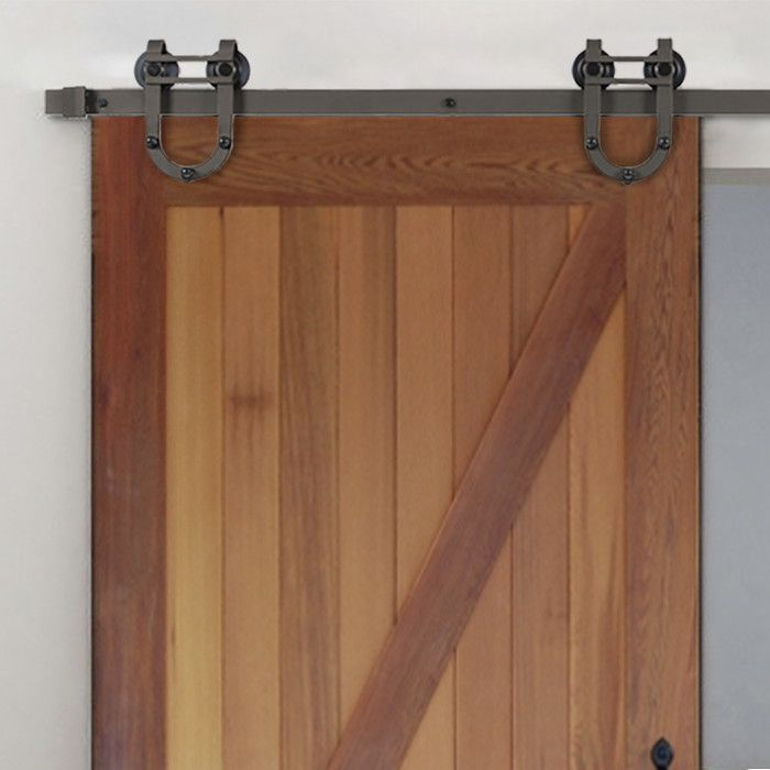 European Horseshoe Sliding Standard Single Track Barn Door ...