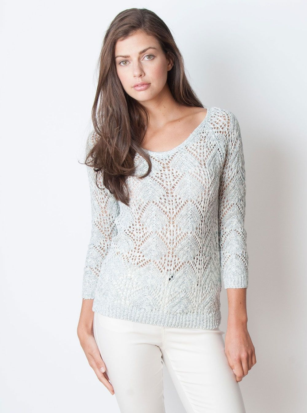 Shannon Sweater White/Blue
