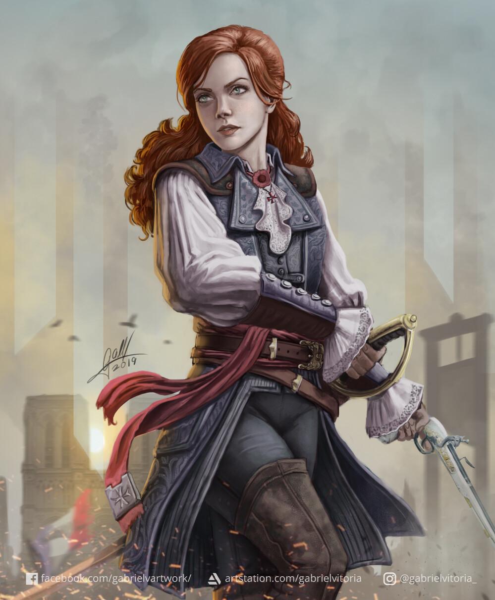 Elise de la Serre y Jennifer Scott   Assassins Creed