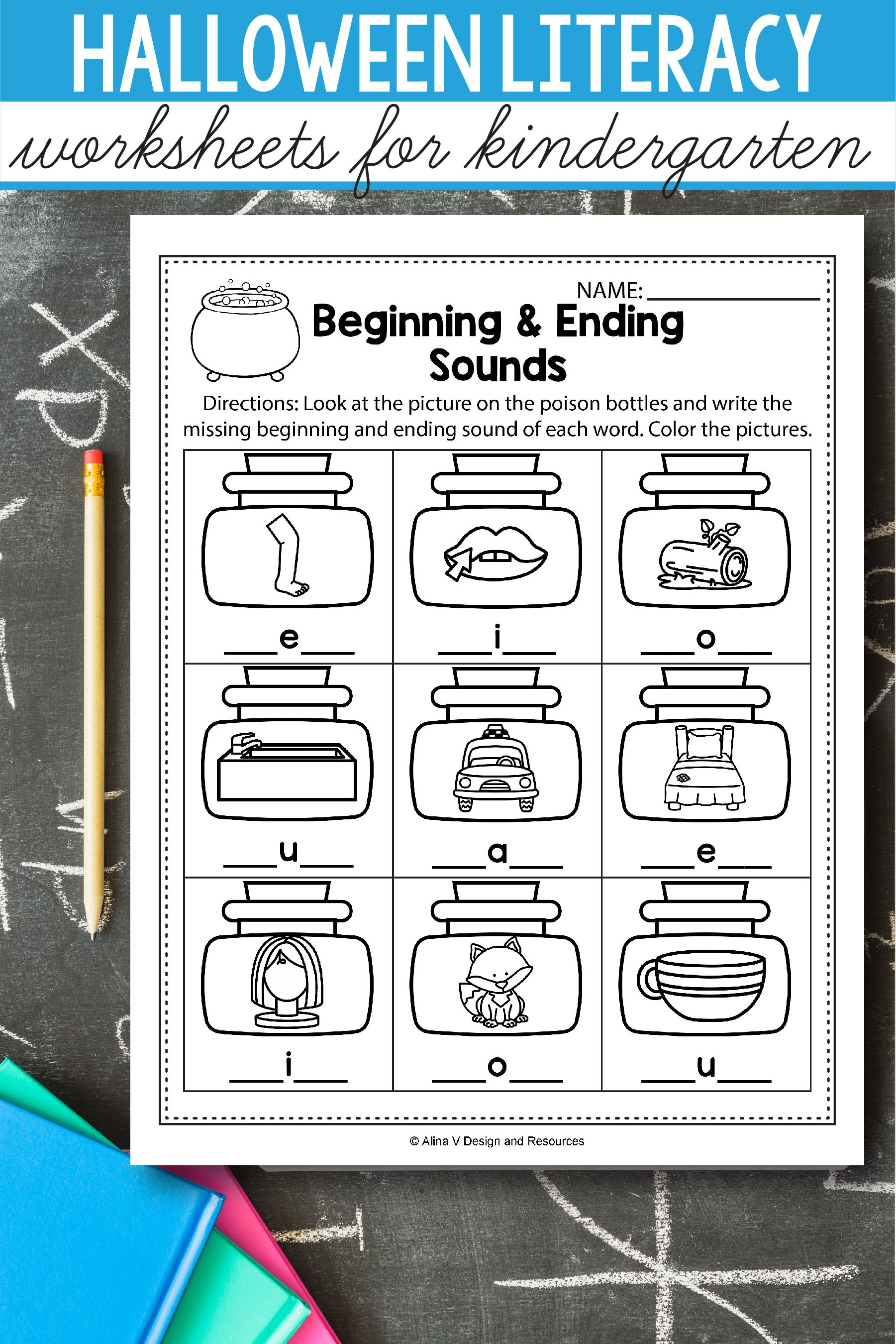 Halloween Worksheet For Preschool Art