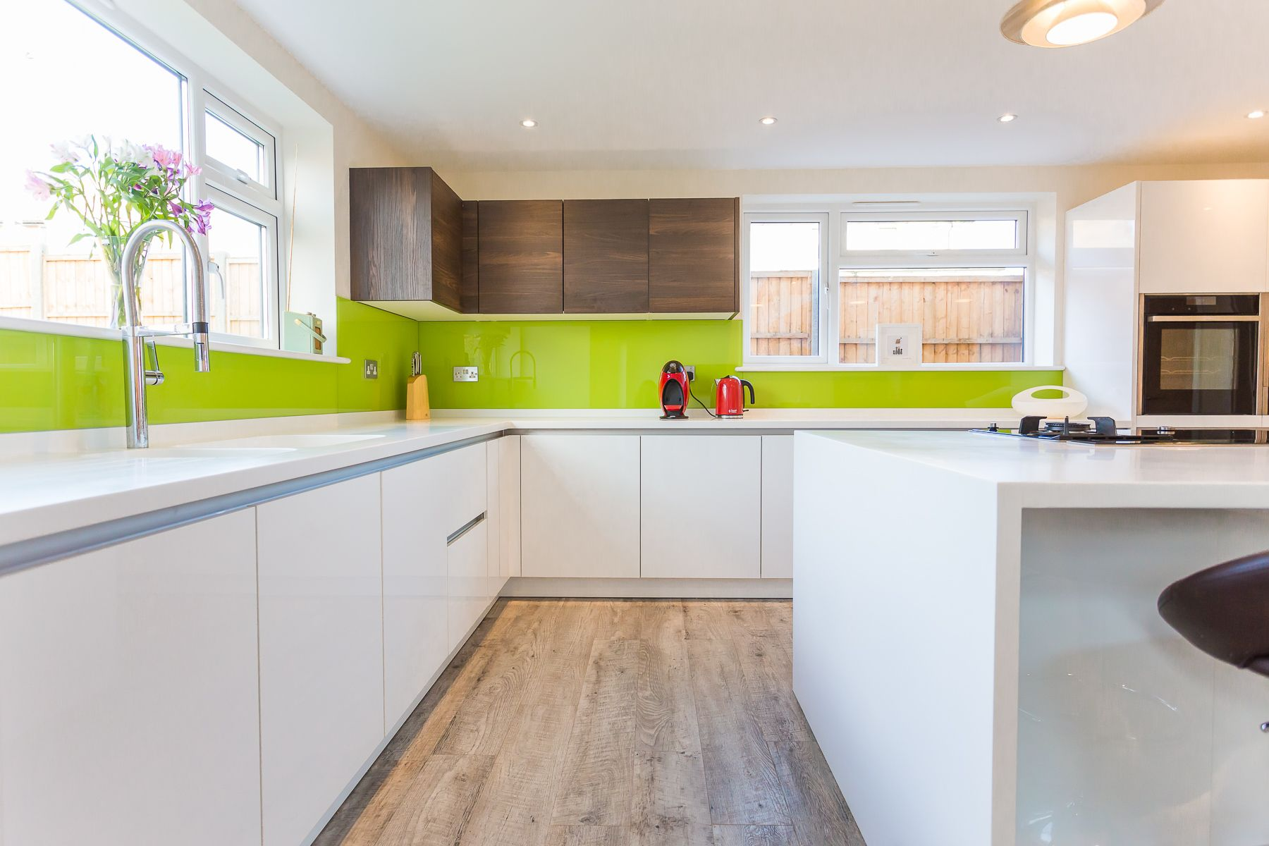 Our beautiful White Nolte Lux handleless kitchen which is