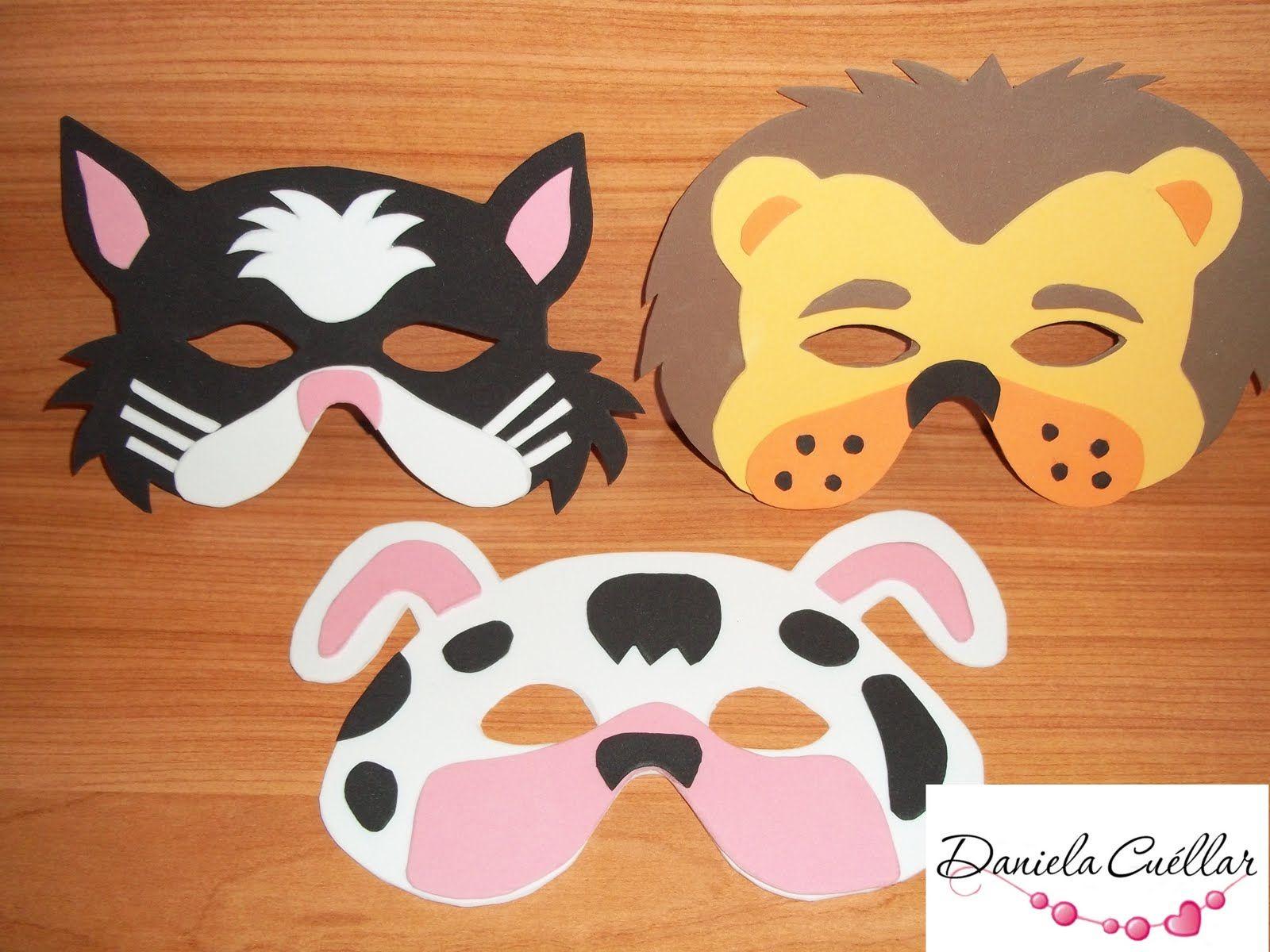 Villa caramelo mascaras de animales teatro cole - Mascaras para carnaval manualidades ...