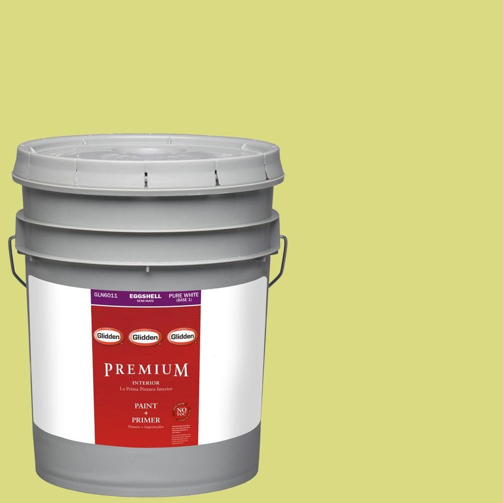 Glidden Premium 5-gal. #HDGG15D Green Grape Eggshell Latex Interior Paint with Primer