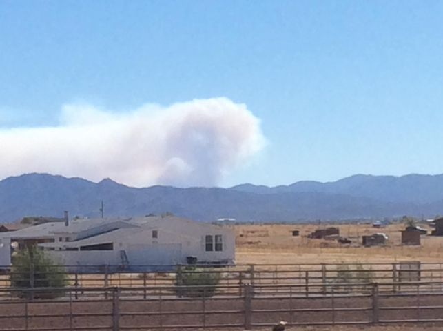 The Horse Fire Continues To Burn Near Crown King - KAFF News