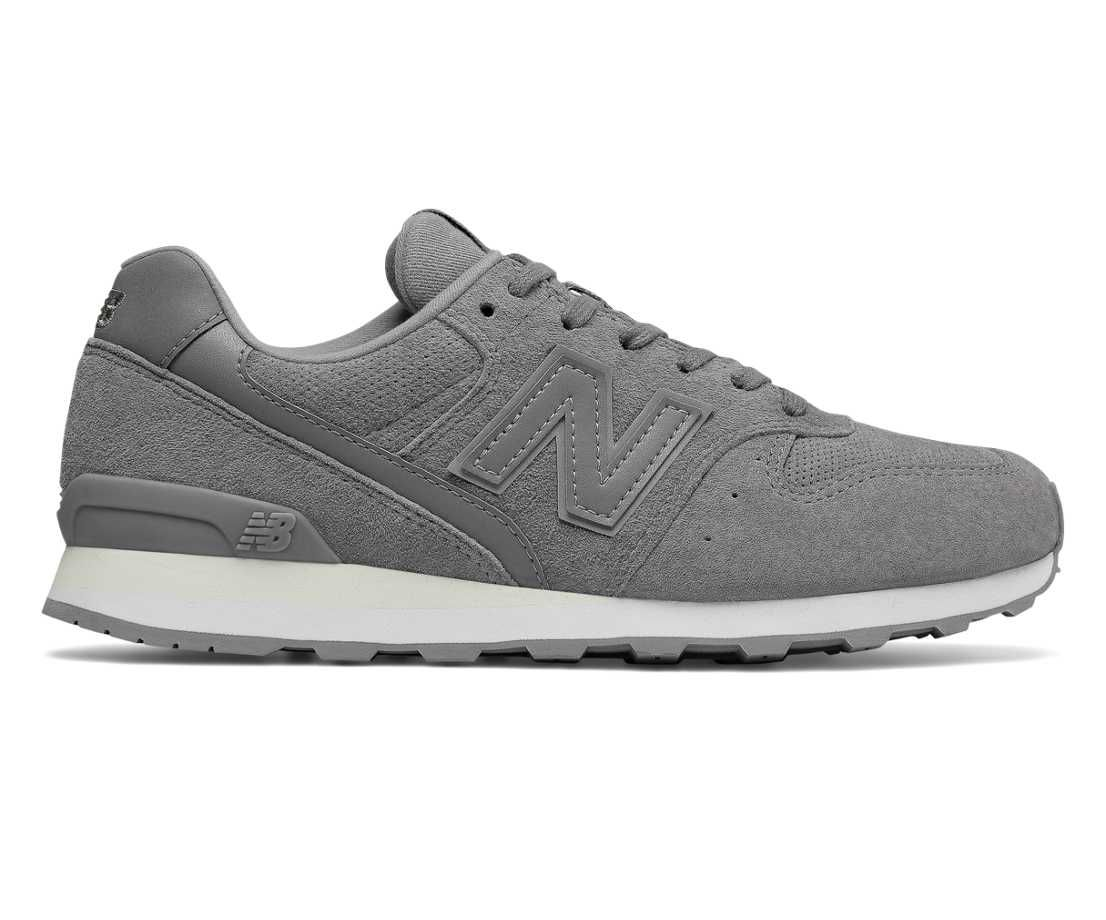 696 Suede, Grey with White New balance, Sneakers, Buy boots