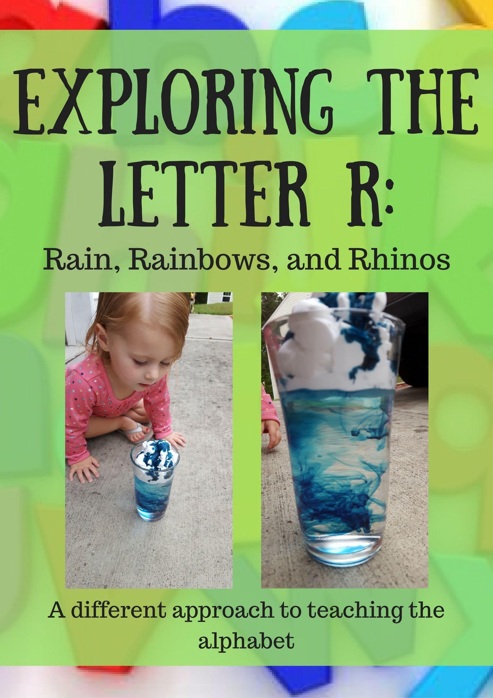 Exploring The Letter R Rain Rainbows And Rhinos