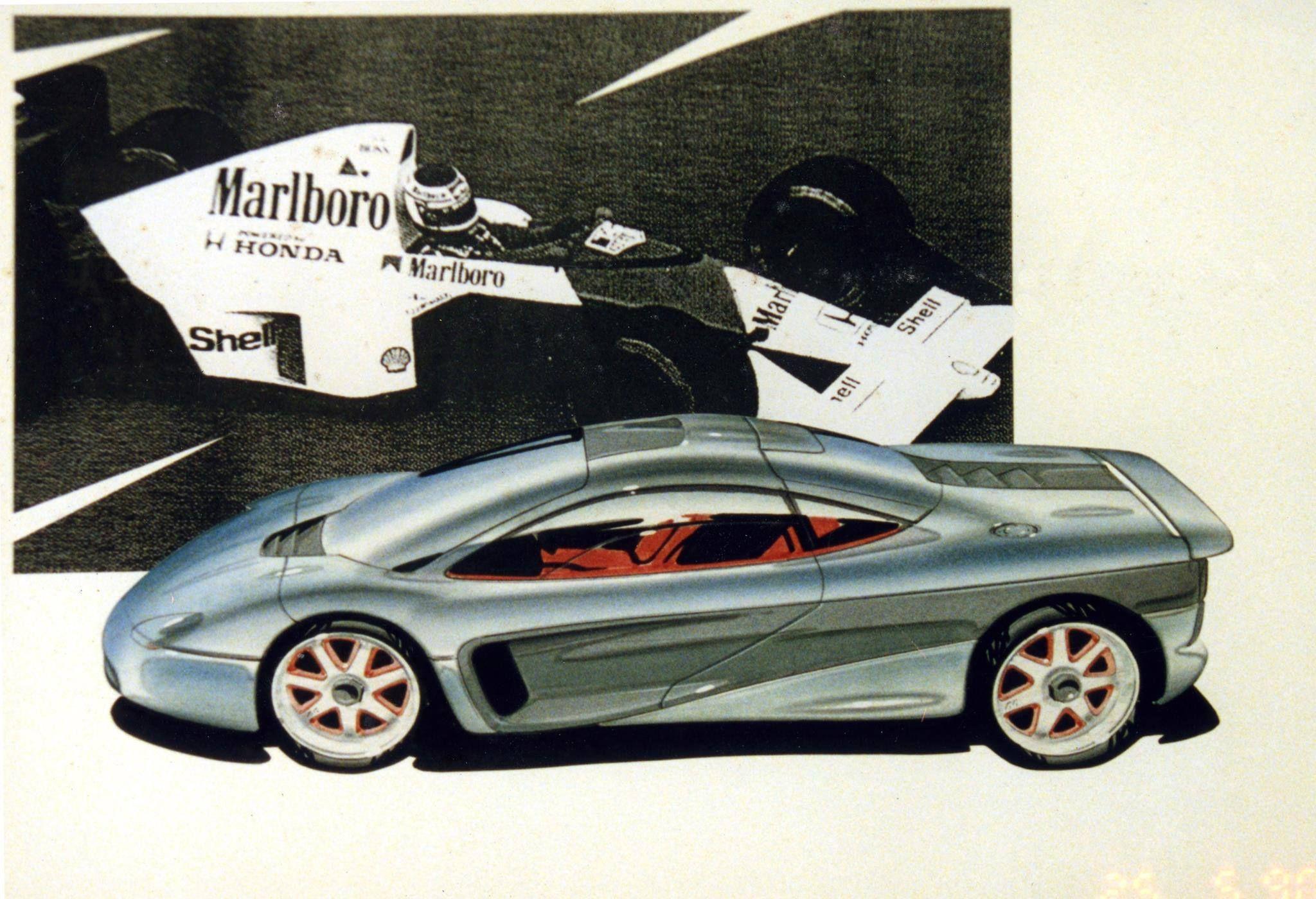 Classic Peter Stevens Mclaren F1 Automotive Design Concept Cars Automotive Design Sketch