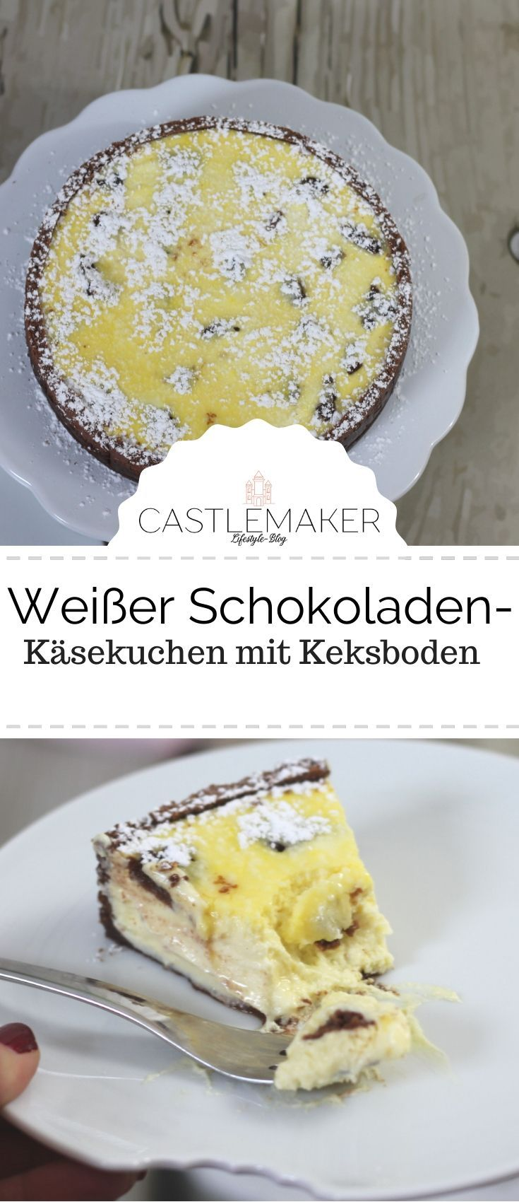 Photo of White chocolate cheesecake – a creamy plucked cake with a difference «CASTLEMAKER Lifestyle Blog