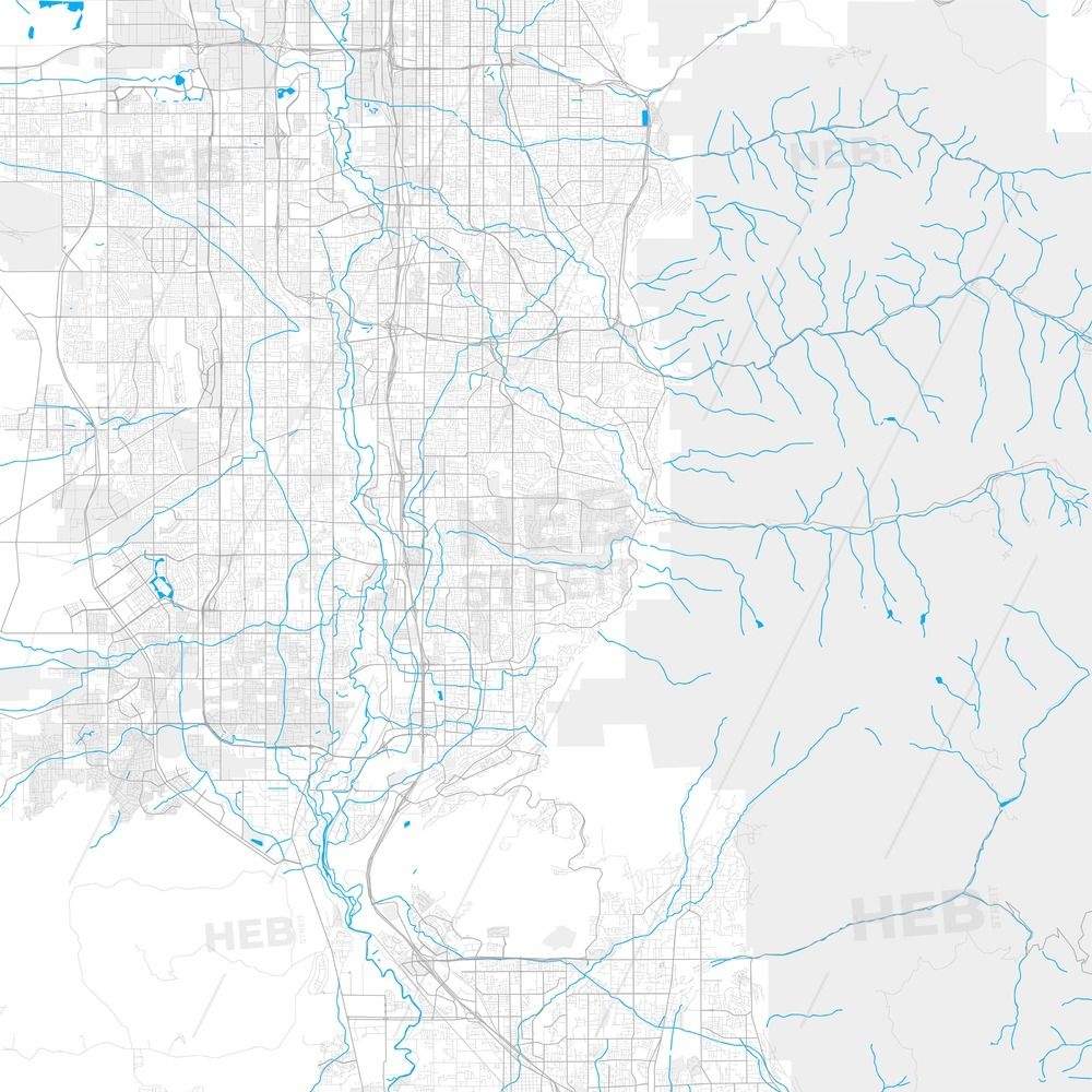 Rich detailed vector map of Sandy, Utah, USA #utahusa