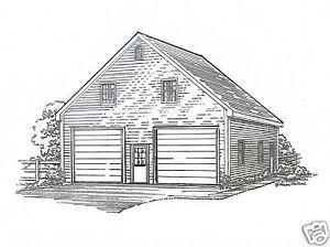 30 X 36 2 Stall Fg Garage Building Plans W Loft Ebay Garage Building Plans Garage Door Design Garage Plans